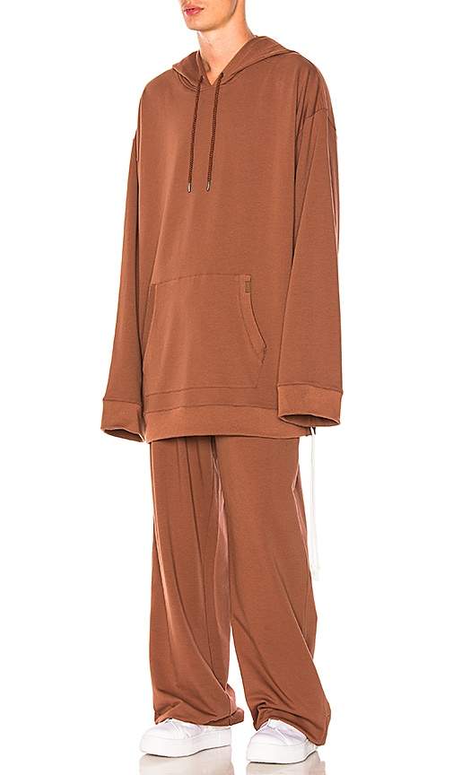 Fenty by Puma Hoodie w/ Side Lacing in Brown