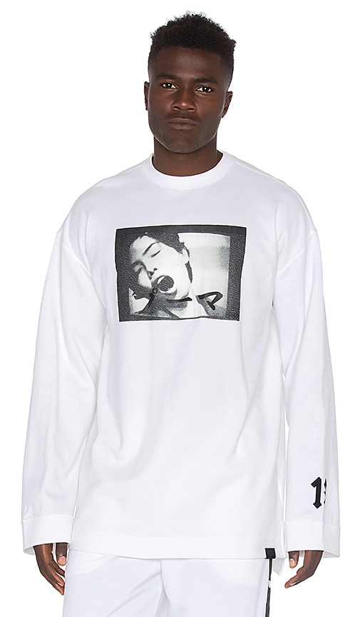 Fenty by Puma Long Sleeve Crew Neck T Shirt in White