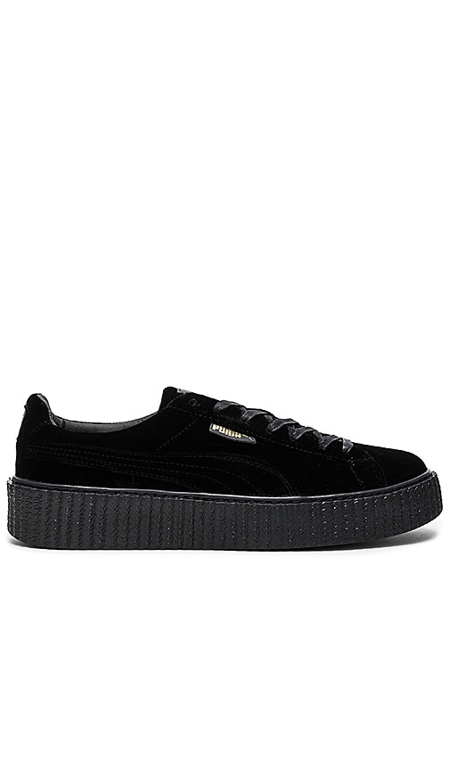 the best attitude 8ac3f 6eb3a Fenty by Puma Velvet Creepers in Puma Black | REVOLVE