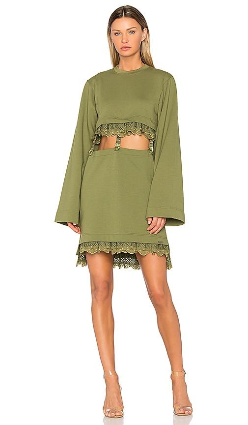 Fenty by Puma Kimono Suspender Dress in Green
