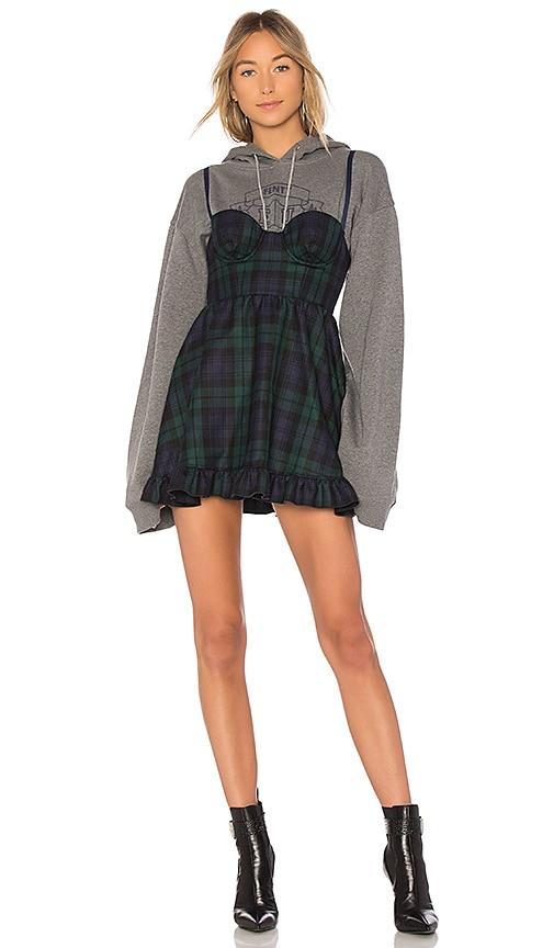 Fenty by Puma Sweatshirt Mini Dress in Gray