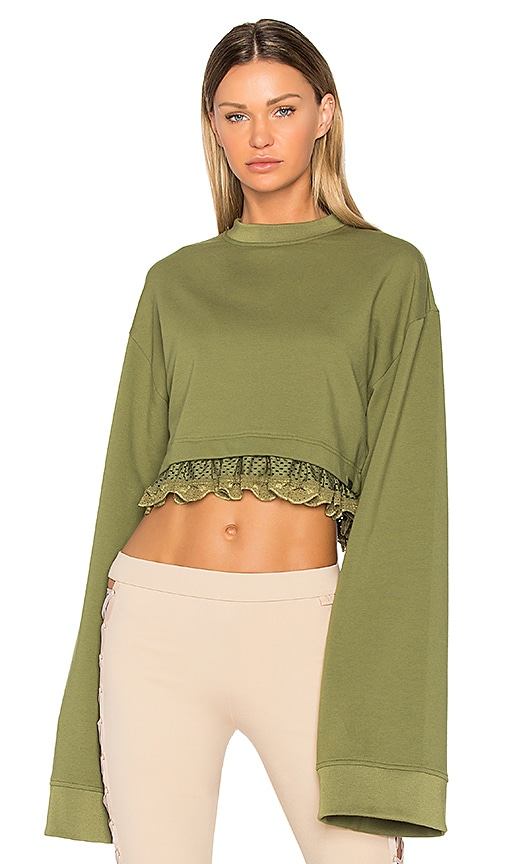 Fenty by Puma Cropped Pullover in Green