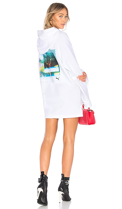 Fenty by Puma Long Sleeve Graphic Hoodie in White