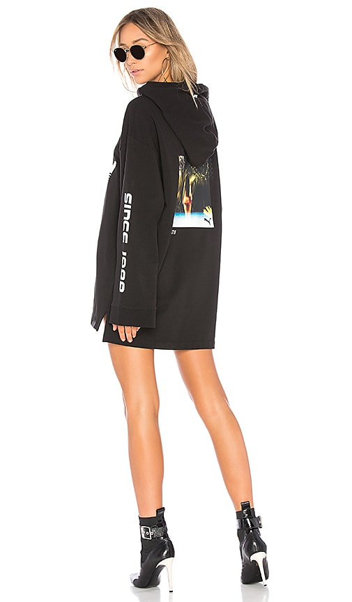 Fenty by Puma Long Sleeve Graphic Hoodie in Black