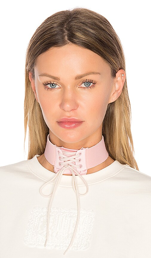 Fenty by Puma Lace Up Choker in Pink