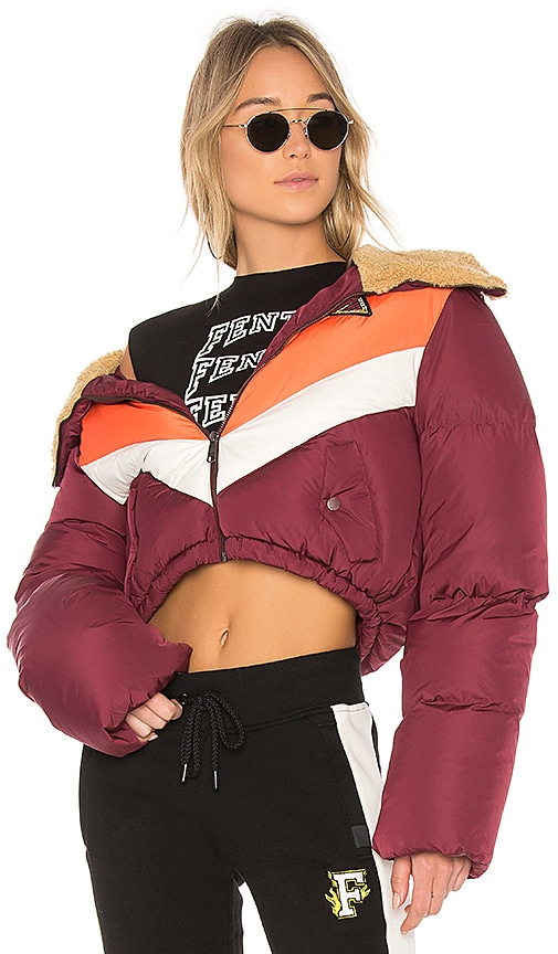 Fenty by Puma Quilted Jacket in Burgundy