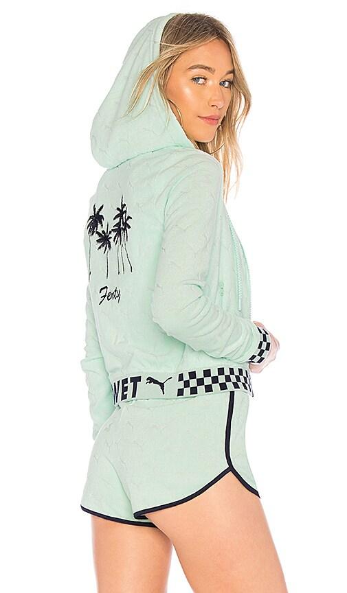 Terrycloth Zip Up Racing Jacket