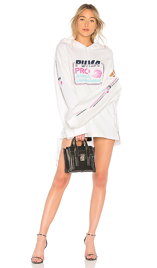 Fenty by Puma Side Laced Long Sleeve Hoodie in White