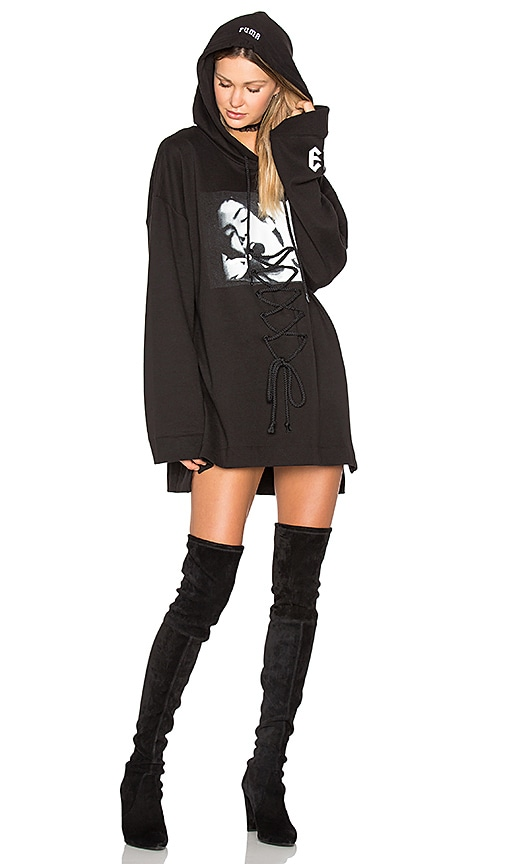 Long Sleeve Graphic Lace Up Hoodie
