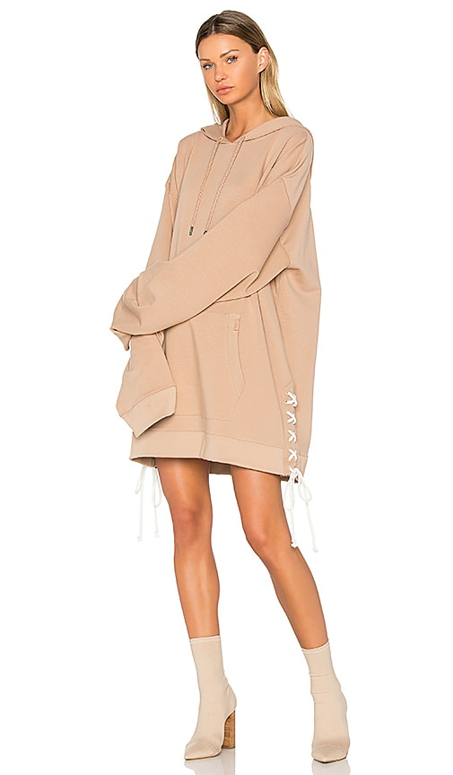 Fenty by Puma Side Lacing Hoodie in Tan