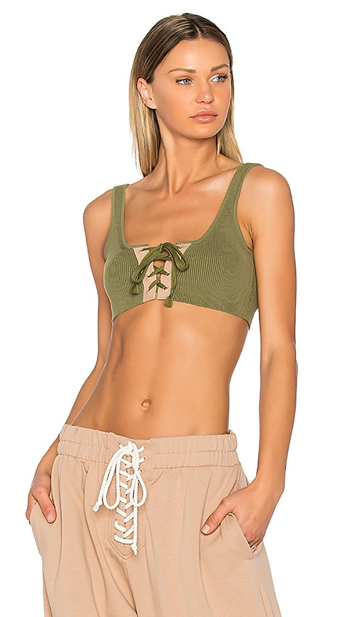 Fenty by Puma Lacing Crop Tank in Green