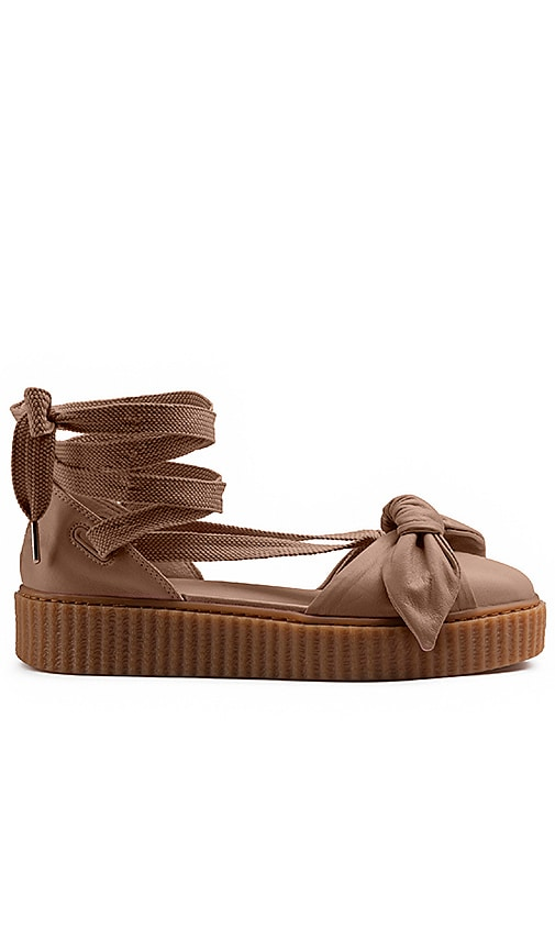 c35b5f12fcf Fenty by Puma Bow Creeper Sandal in Natural   Natural   Oatmeal ...