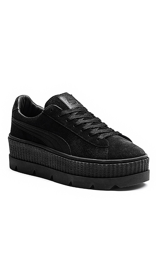 Fenty by Puma Cleated Creeper Suede Sneaker in Black