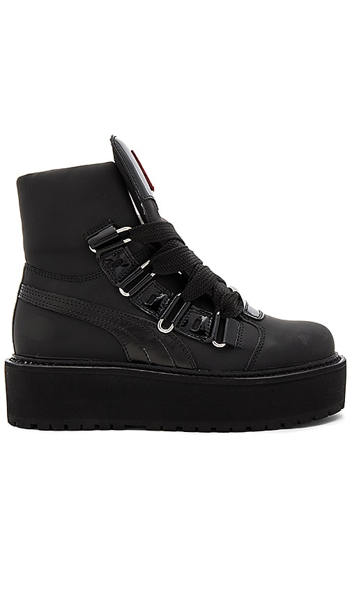 new concept acc98 b2755 Fenty by Puma Sneaker Boot in Black | REVOLVE