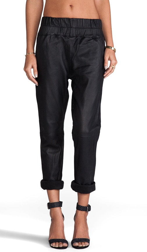 Boxer Leather Track Pants