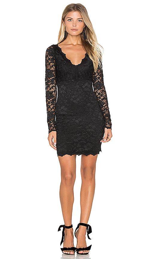 Fifteen Twenty Lace Mini Dress in Black
