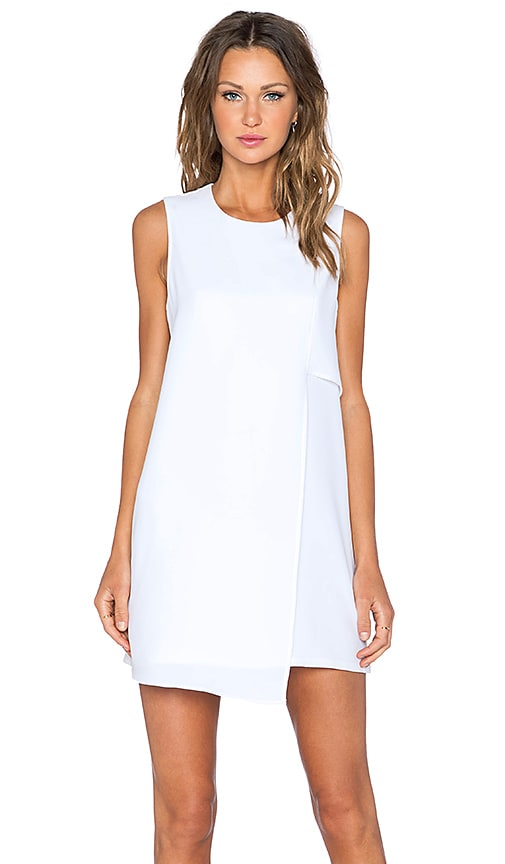 Fifteen Twenty Asymmetrical Shift Dress in White