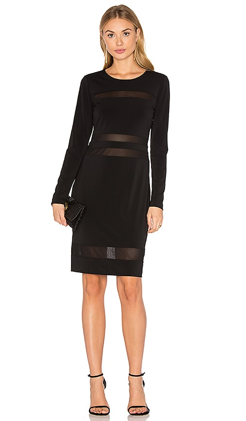 Fifteen Twenty Mesh Mini Dress in Black