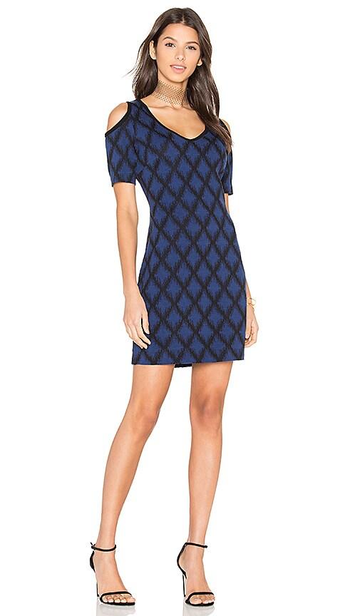 Fifteen Twenty Cold Shoulder Dress in Blue