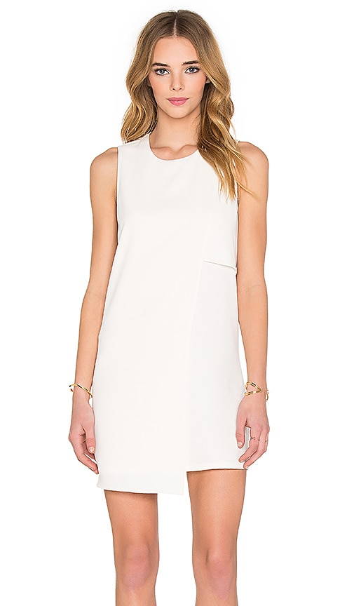 Fifteen Twenty Asymmetrical Shift Dress in Cream