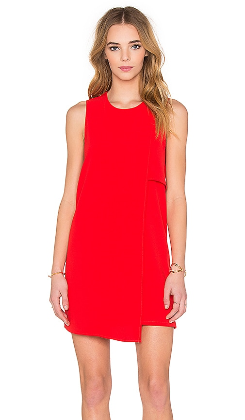 Fifteen Twenty Asymmetrical Shift Dress in Red