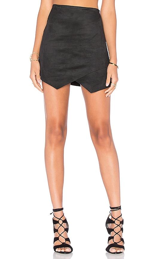 Fifteen Twenty Crisscross Angled Skirt in Black