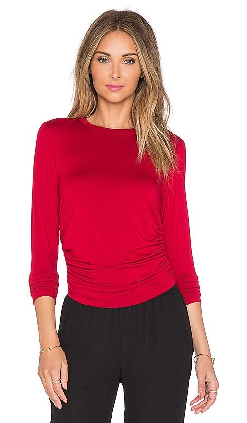 Fifteen Twenty Side Shirred Crop Top in Red