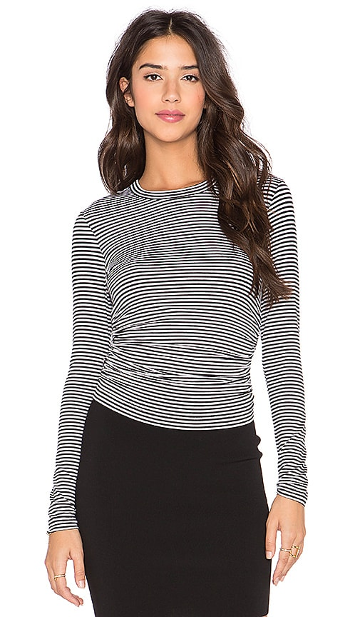 Fifteen Twenty Side Shirred Top in Stripe