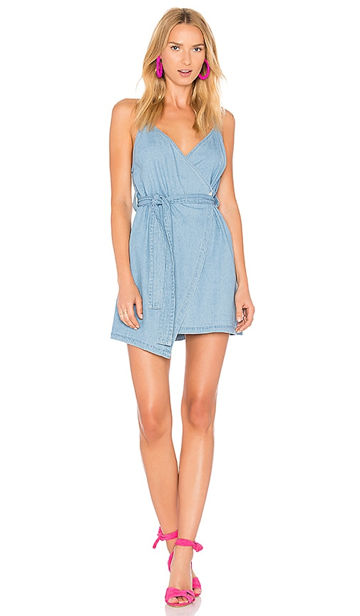 The Fifth Label Blue Eyes Dress in Light Washed Denim