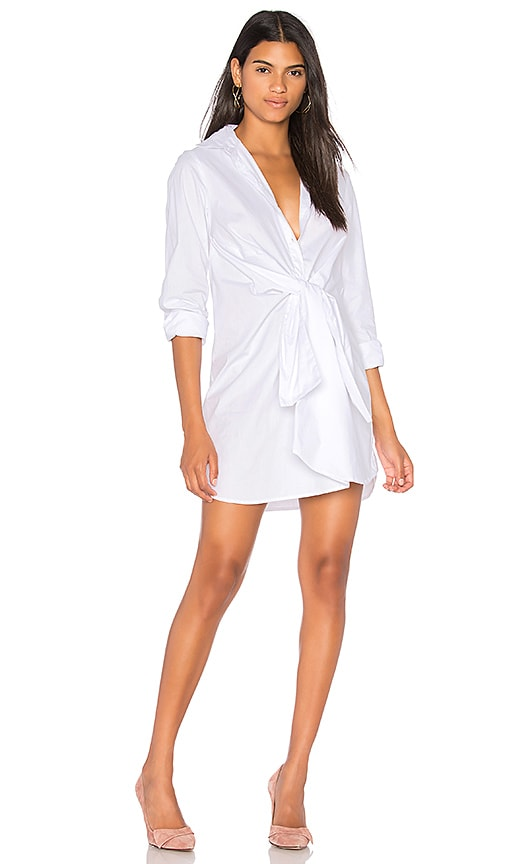 The Fifth Label Paper Planes Shirt Dress in White