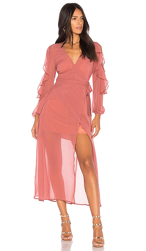 The Fifth Label Brushstrokes Maxi Dress in Rose