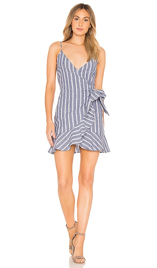 The Fifth Label Voyage Wrap Dress in Blue