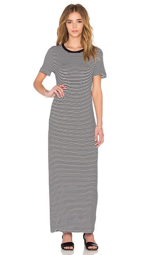 The Fifth Label Gardenia Dress in White & Black Stripe