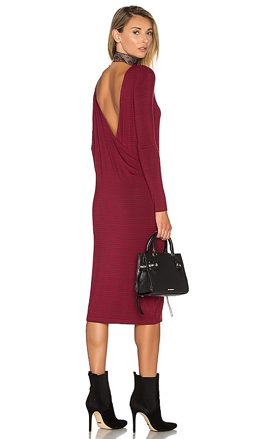 The Fifth Label Time Lapse Long Sleeve Dress in Burgundy