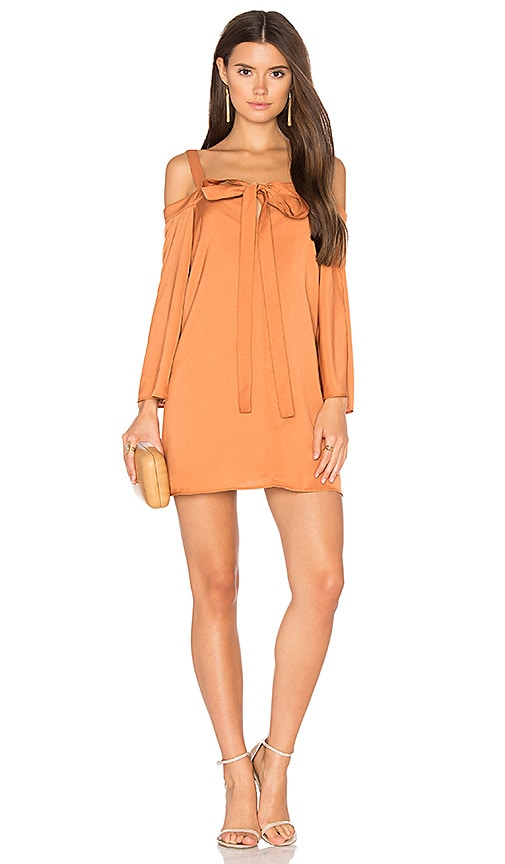 The Fifth Label In Full Light Long Sleeve Dress in Tan