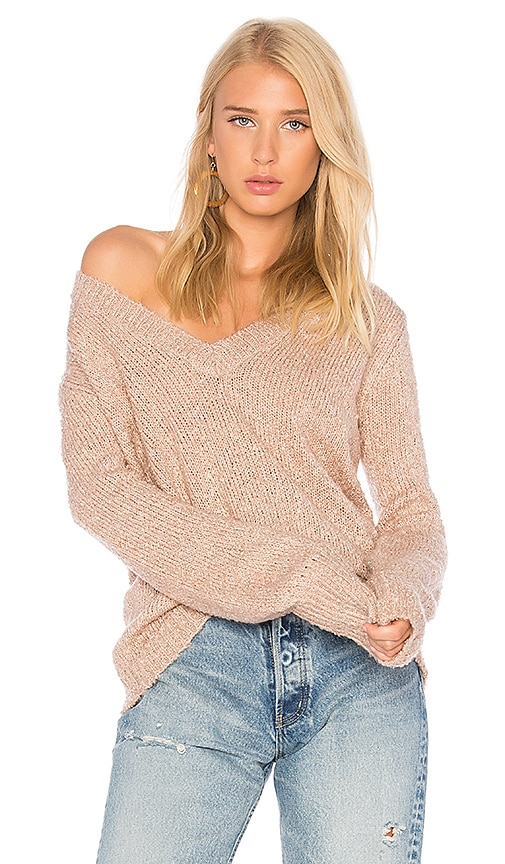 The Fifth Label Exit Knit Pullover Sweater in Pink