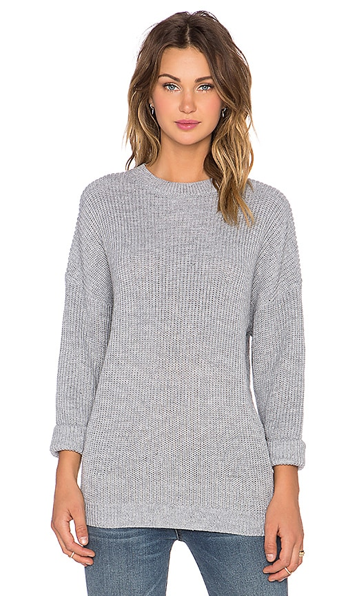 The Fifth Label Jewels & Gold Knit Sweater in Light Grey Marle