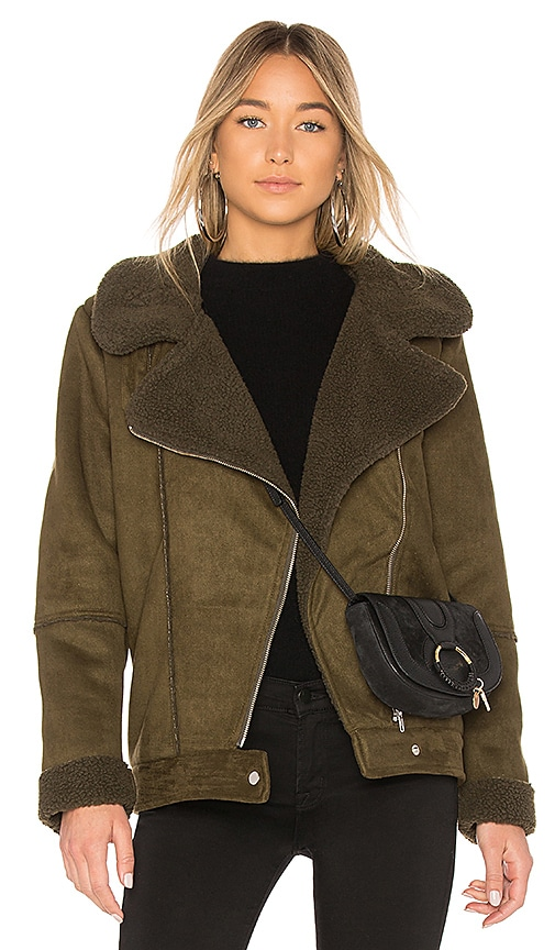 The Fifth Label Dallas Moto Jacket in Olive