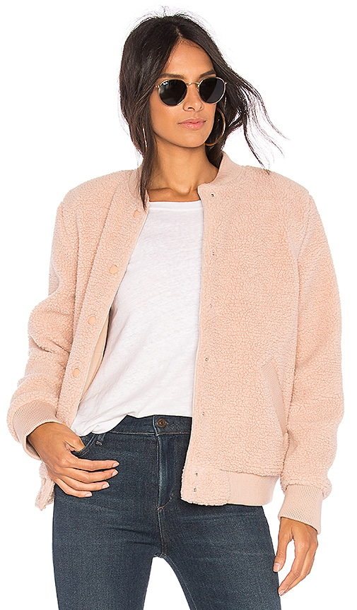 The Fifth Label Jamie Bomber Jacket in Blush