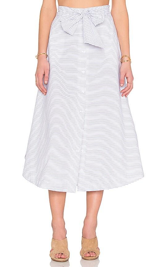 The Fifth Label Major Tom Skirt in Blue & White Stripe