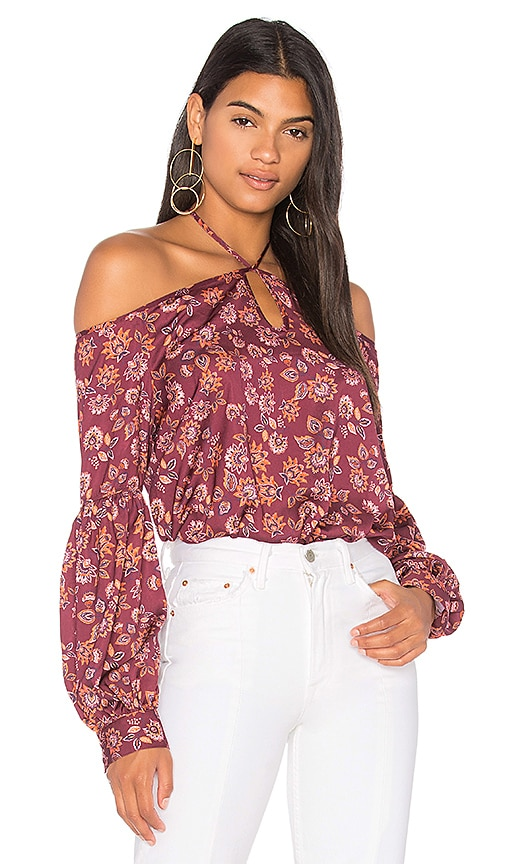 The Fifth Label Carousel Long Sleeve Top in Burgundy