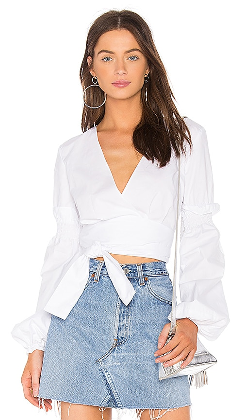 The Fifth Label Beyond Wrap Top in White