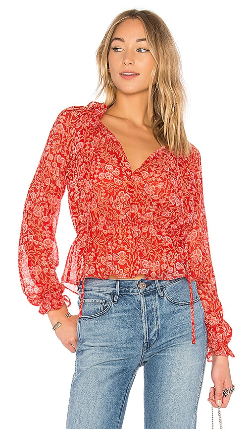 The Fifth Label Brushstrokes Blouse in Red