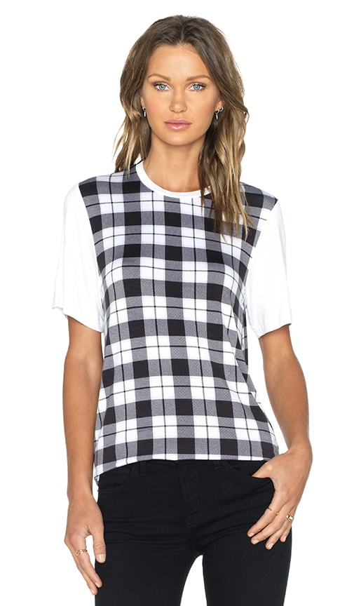 The Fifth Label Sleepwalker T-Shirt in Tartan Print & White