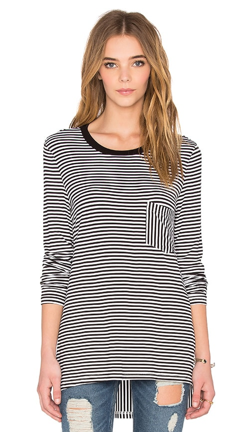 The Fifth Label Gardenia Long Sleeve Top in Black