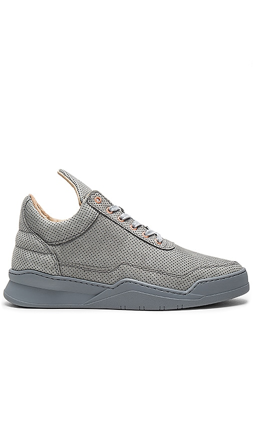 Filling Pieces Low Top Perforated Alam in Gray