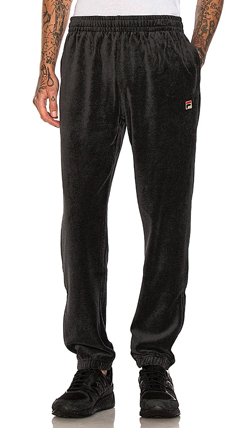 Fila Velour Pants in Charcoal