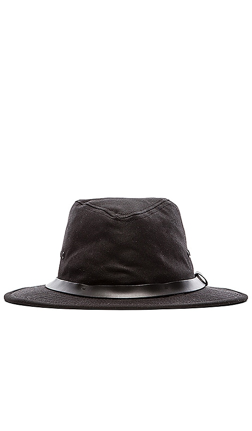Filson Tin Cloth Packer Hat in Black