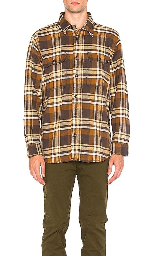Filson Vintage Flannel Work Shirt in Brown