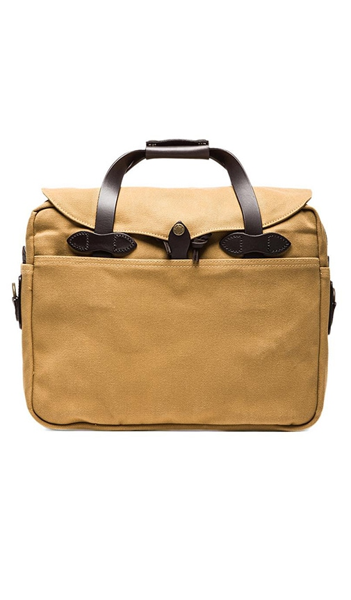 Filson Briefcase Computer Bag in Dark Tan